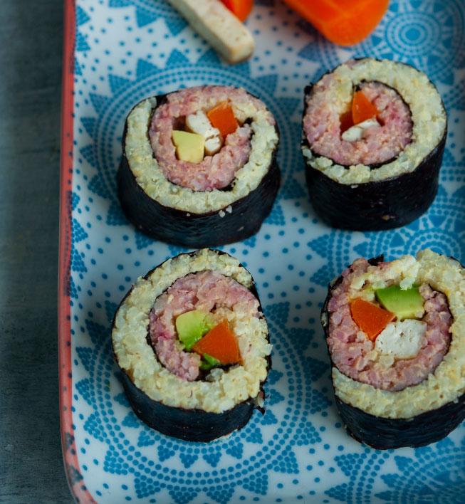 Sushi de color