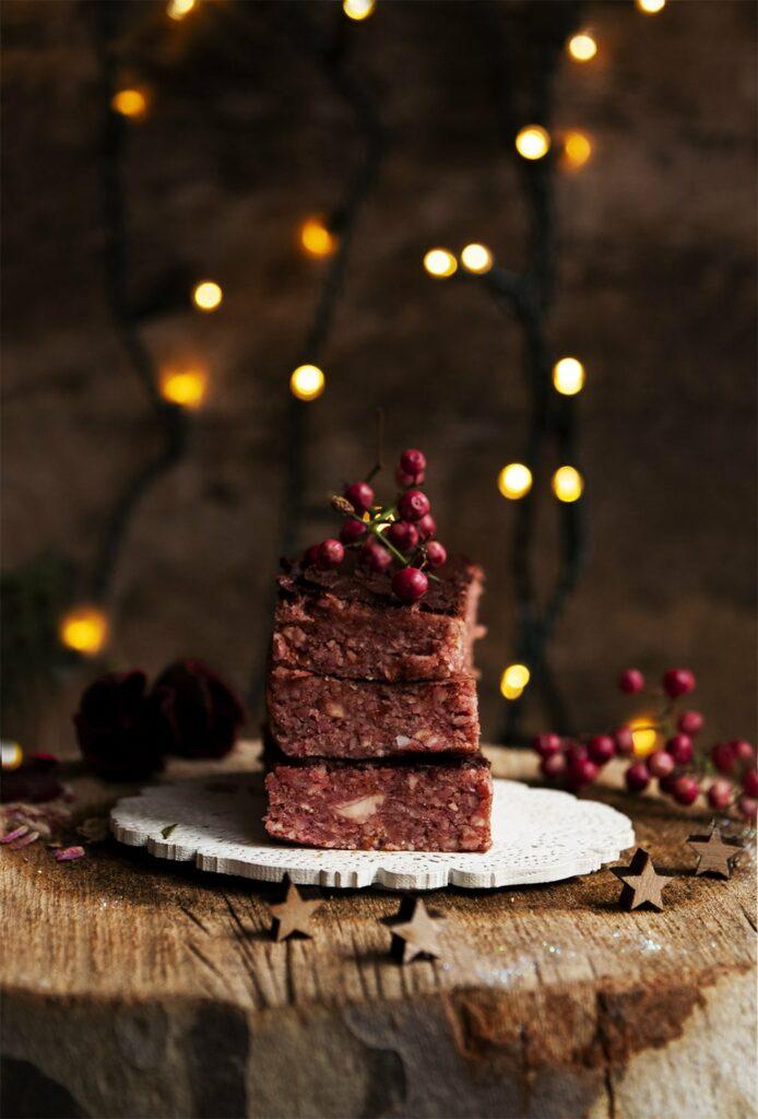 turrones con remolacha dulce navideño