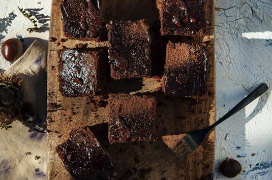 Brownie de castañas (sin gluten)